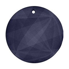 Dark In Grey  Ornament (round)