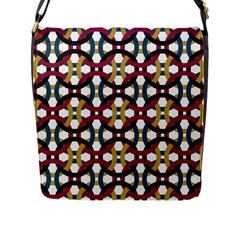 Entanglement Of Circles Flap Closure Messenger Bag (l)