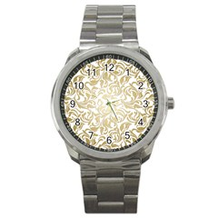 Floral Design In Gold  Sport Metal Watch by TimelessFashion