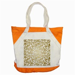 Floral Design In Gold  Accent Tote Bag by TimelessFashion