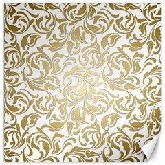 Floral Design In Gold  Canvas 16  X 16