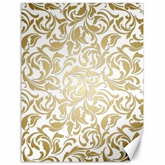 Floral Design In Gold  Canvas 18  X 24  by TimelessDesigns
