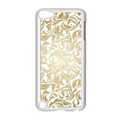Floral Design In Gold  Apple Ipod Touch 5 Case (white)