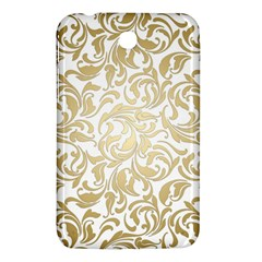 Floral Design In Gold  Samsung Galaxy Tab 3 (7 ) P3200 Hardshell Case