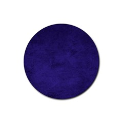 Fluffy Blue Rubber Round Coaster (4 Pack)  by FEMCreations