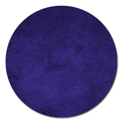 Fluffy Blue Magnet 5  (round) by TimelessDesigns