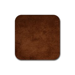 Fluffy Brown Rubber Square Coaster (4 Pack)  by FEMCreations
