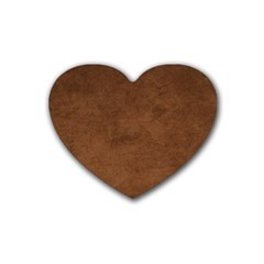 Fluffy Brown Heart Coaster (4 Pack)  by FEMCreations