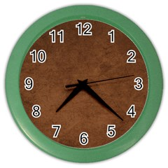 Fluffy Brown Color Wall Clock