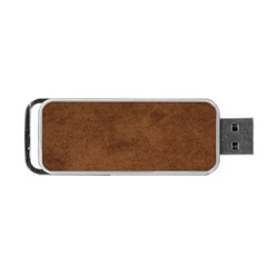 Fluffy Brown Portable Usb Flash (one Side)