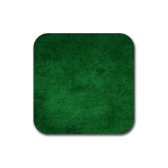 Fluffy Green Rubber Square Coaster (4 Pack)  by FEMCreations