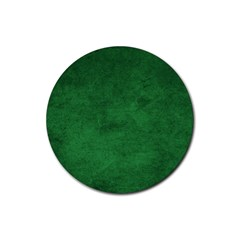 Fluffy Green Rubber Round Coaster (4 Pack)  by FEMCreations