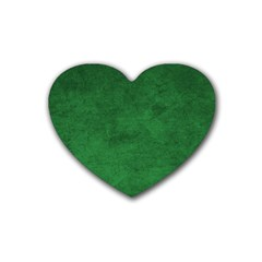 Fluffy Green Heart Coaster (4 Pack)  by FEMCreations