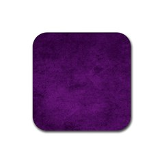 Fluffy Purple Rubber Coaster (square)  by FEMCreations