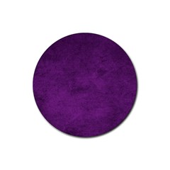 Fluffy Purple Rubber Coaster (round)  by FEMCreations