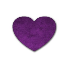 Fluffy Purple Heart Coaster (4 Pack)  by FEMCreations