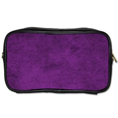 Fluffy Purple Toiletries Bag (two Sides)