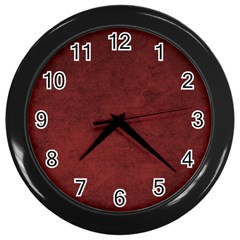Fluffy Red Wall Clock (black) by FEMCreations