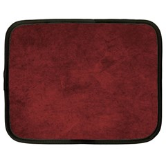 Fluffy Red Netbook Case (xl) by TimelessDesigns