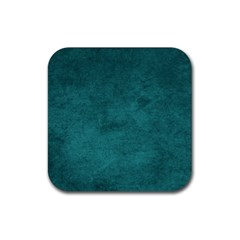 Fluffy Turquoise Rubber Square Coaster (4 Pack)  by FEMCreations