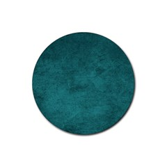 Fluffy Turquoise Rubber Coaster (round)  by FEMCreations