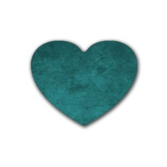Fluffy Turquoise Rubber Coaster (heart)  by FEMCreations