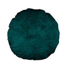 Fluffy Turquoise Standard 15  Premium Round Cushions