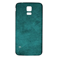 Fluffy Turquoise Samsung Galaxy S5 Back Case (white)
