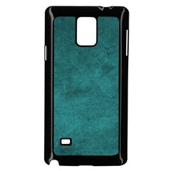 Fluffy Turquoise Samsung Galaxy Note 4 Case (black) by TimelessDesigns