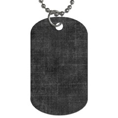 Leather Black  Dog Tag (one Side)