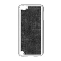 Leather Black  Apple Ipod Touch 5 Case (white)