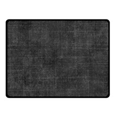 Leather Black  Double Sided Fleece Blanket (small)