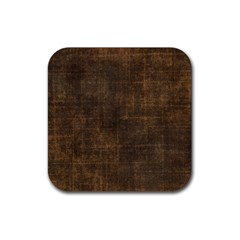 Leather Brown Rubber Coaster (square)