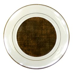 Leather Brown Porcelain Plates