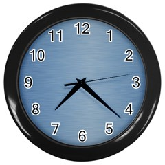 Metallic Blue Wall Clock (black) by TimelessDesigns