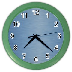 Metallic Blue Color Wall Clock by TimelessDesigns