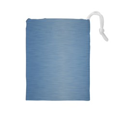 Metallic Blue Drawstring Pouch (large) by TimelessFashion