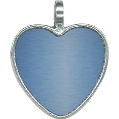 Metallic Blue Heart Necklace by TimelessFashion