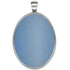 Metallic Blue Oval Necklace by TimelessFashion