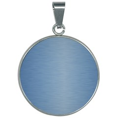 Metallic Blue 30mm Round Necklace by TimelessFashion