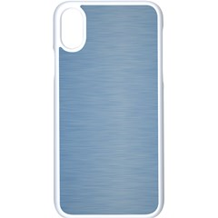 Metallic Blue Apple Iphone Xs Seamless Case (white) by TimelessDesigns