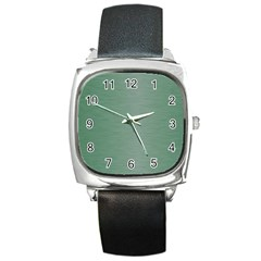 Metallic Green Square Metal Watch by TimelessFashion