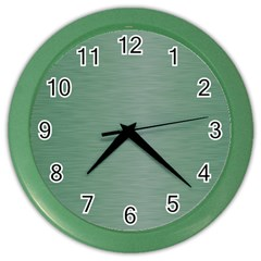 Metallic Green Color Wall Clock by TimelessDesigns