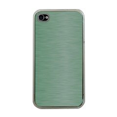 Metallic Green Apple Iphone 4 Case (clear) by TimelessDesigns