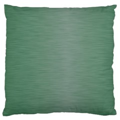 Metallic Green Large Flano Cushion Case (one Side) by TimelessDesigns