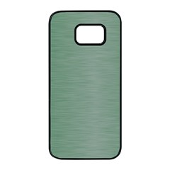 Metallic Green Samsung Galaxy S7 Edge Black Seamless Case by FEMCreations