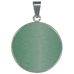 Metallic Green 30mm Round Necklace by TimelessFashion