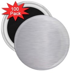 Metallic Grey 3  Magnets (100 Pack) by TimelessDesigns