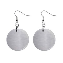 Metallic Grey Mini Button Earrings