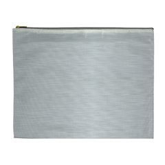 Metallic Grey Cosmetic Bag (xl) by TimelessFashion